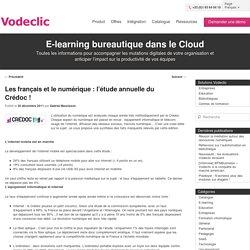 Les français et le numérique : l'étude annuelle du Crédoc !