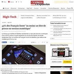 """45% des Français lisent """"au moins un titre de presse en version numérique"""""""