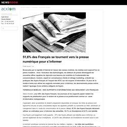 51,6% des Français se tournent vers la presse numérique pour s'informer