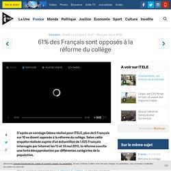 61% des Français sont opposés à la réforme du collège