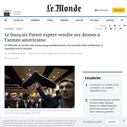 Le français Parrot espère vendre ses drones à l'armée américaine