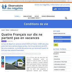 Quatre Français sur dix ne partent pas en vacances