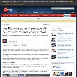 Les Français passent presque 28 heures sur Internet chaque mois