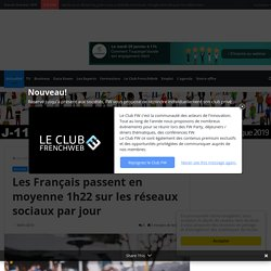 Les Français passent en moyenne 1h22 sur les réseaux sociaux par jour