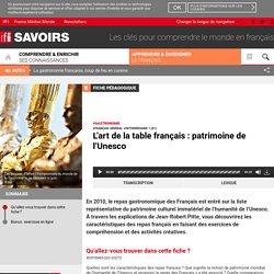 L'art de la table français : patrimoine de l'Unesco