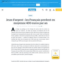 Jeux d'argent : les Français perdent en moyenne 400 euros par an