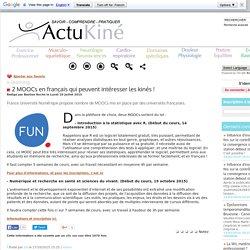 2 MOOCs en français qui peuvent intéresser les kinés !