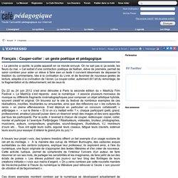 Français : Couper-coller : un geste poétique et pédagogique