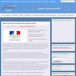 Budget français 2017 et Politique de l'égalité des genres – Femina Europa