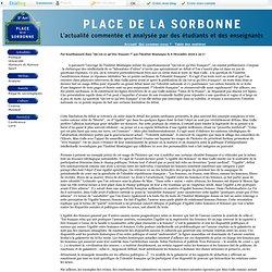"""Place de la Sorbonne - """"Être français c'est pratiquer l'amour co"""