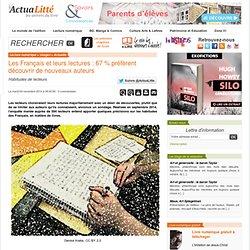 Les Français et leurs lectures : 67 % préfèrent découvrir de nouveaux auteurs