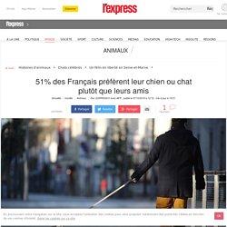 51% des Français préfèrent leur chien ou chat plutôt que leurs amis