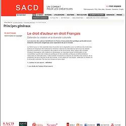 Le droit d'auteur En droit Français - Principes généraux
