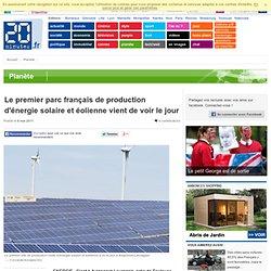 Parc français de production solaire éolienne