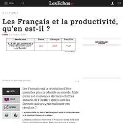 Les Français et la productivité, qu'en est-il ?, Le Cercle