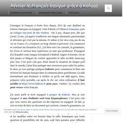 Réviser le Français basique grâce à Kahoot – Profesor Plans. ¡Una vida docent...