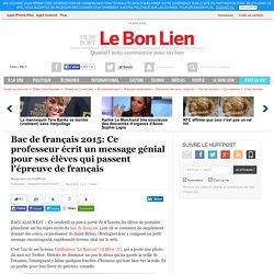Bac de français 2015: Ce professeur écrit un message génial pour ses élèves qui passent l'épreuve de français
