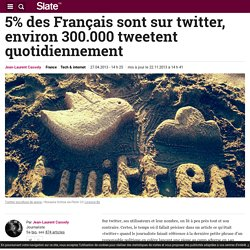 5% des Français sont sur twitter, environ 300.000 tweetent quotidiennement