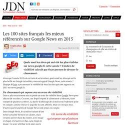 Les 100 sites français les mieux référencés sur Google News en 2015
