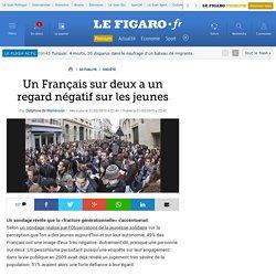 Un Français sur deux a un regard négatif sur les jeunes