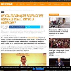 Un collège français remplace des heures de colle... par de la méditation !