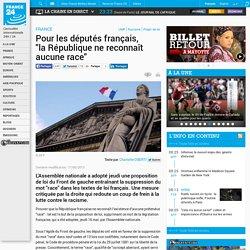 """FRANCE - Pour les députés français, """"laRépublique ne reconnaît aucune race"""""""