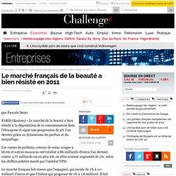 Le marché français de la beauté a bien résisté en 2011