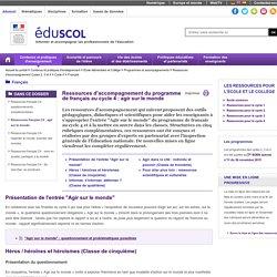 Français - Ressources français C4 : agir sur le monde