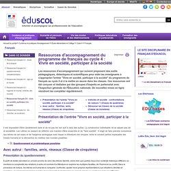 Français - Ressources français C4 : vivre en société, participer à la société