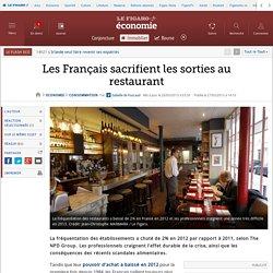 Les Français sacrifient les sorties au restaurant