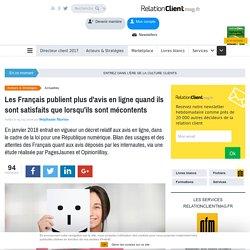 Les Français publient plus d'avis en ligne quand ils sont satisfaits que lorsqu'ils sont mécontents