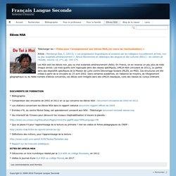 Français Langue SecondeElèves NSA - Français Langue Seconde