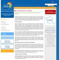 Les Français et l'argent - SSF Les Semaines Sociales de France