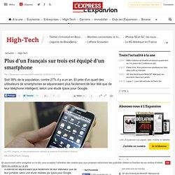 Plus d'un Français sur trois est équipé d'un smartphone
