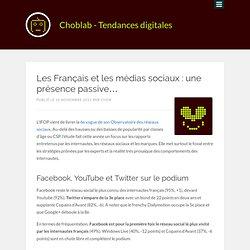 Les Français et les médias sociaux : une présence passive…