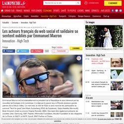 Les acteurs français du web social et solidaire se sentent oubliés par Emmanuel Macron - 22/05/2018