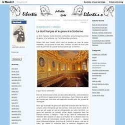 Le droit français et le genre à la Sorbonne
