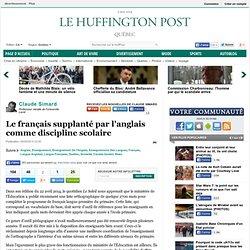 Le français supplanté par l'anglais comme discipline scolaire