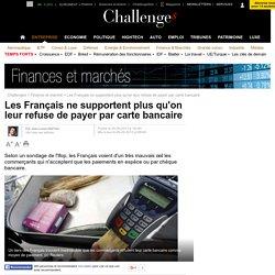 Les Français ne supportent plus qu'on leur refuse de payer par carte bancaire - 26 septembre 2013
