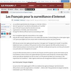 Les Français pour la surveillance d'Internet