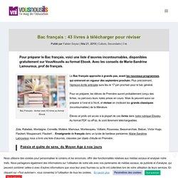 Bac français : 43 livres à télécharger en pdf pour réviser