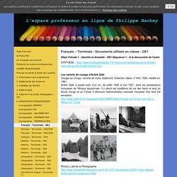 Français – Terminale - Documents utilisés en classe - OE1