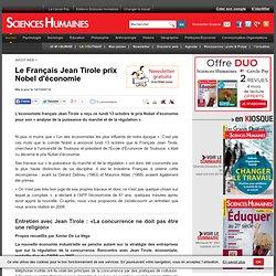 Le Français Jean Tirole prix Nobel d'économie