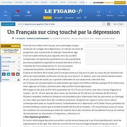 Un Français sur cinq touché par la dépression