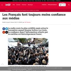 Les Français font toujours moins confiance aux médias