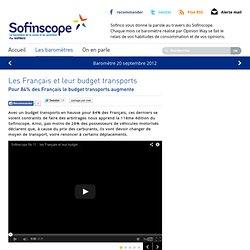 Les Français et leur budget transports