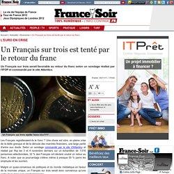 Un Français sur trois est tenté par le retour du franc