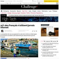 15% des Français n'utilisent jamais Internet