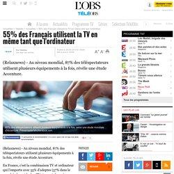55% des Français utilisent la TV en même tant que l'ordinateur