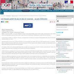 Les français partent de plus en plus en vacances... au parc d'attraction